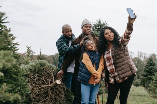 family bonding while doing landscape activity