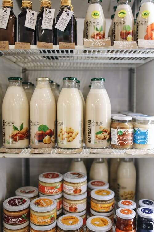 organize your fridge with dairy products