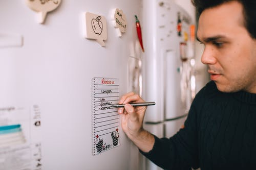 schedule cleaning up your fridge